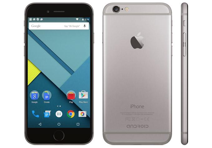 Apple a anunțat lansarea primului iPhone cu sistem de operare Android Lollipop 1aprilie apple android