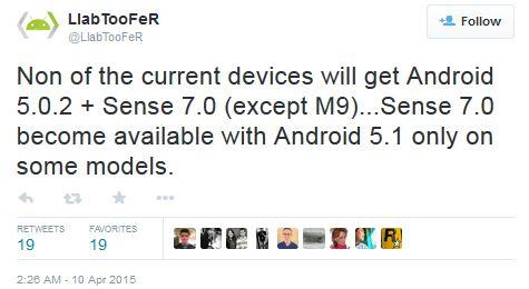 Interfața Sense 7 va veni cu Android 5.1 și doar pentru câteva modele HTC m8 m9 sense