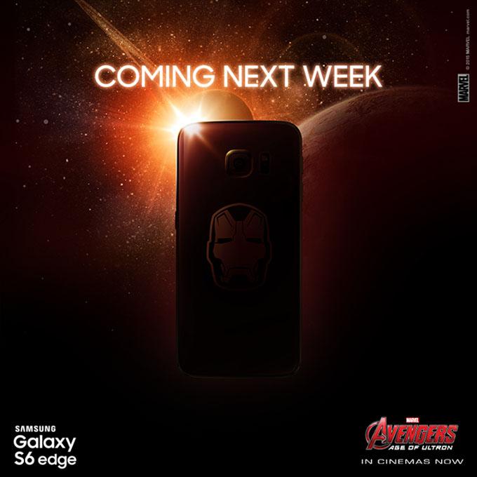 """Samsung lansează săptămâna viitoare Galaxy S6 Edge versiunea """"Iron Man"""" edge iron man galaxy"""
