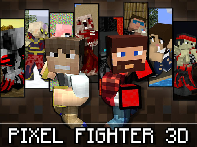 Pixel Fighter 3D - lupte 1vs1 în pixeli fighter pixel