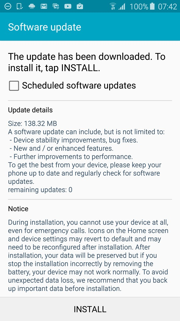 Samsung Galaxy S6 - versiunea europeană - a primit un nou update 5.0.2 s6 samsung bug