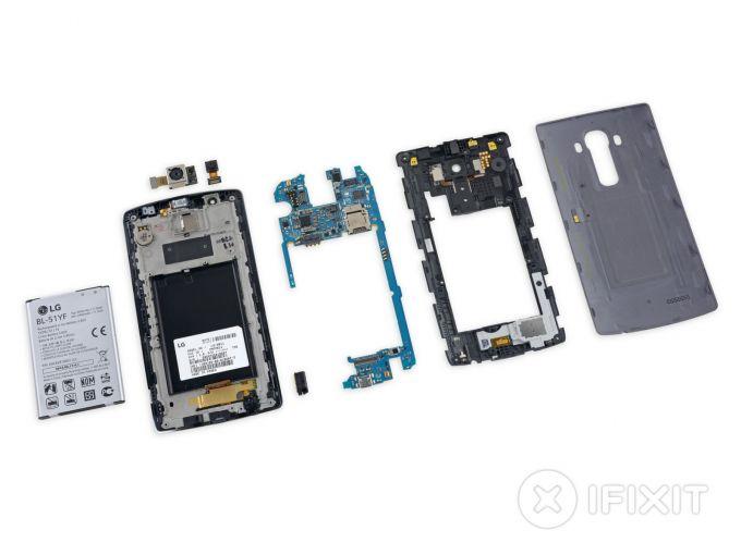 LG G4 a fost desfăcut în bucăți de iFixit teardown g4 lg