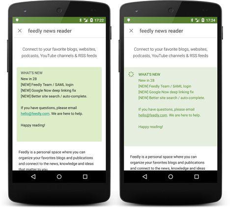 Aplicația Google Play Store a fost actualizată la versiunea 5.7.6 update store play