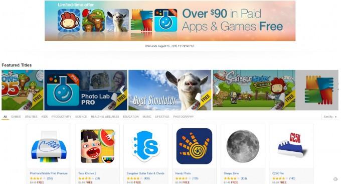 Aplicații și jocuri în valoare de 90$ gratuite în Amazon Appstore free amazon