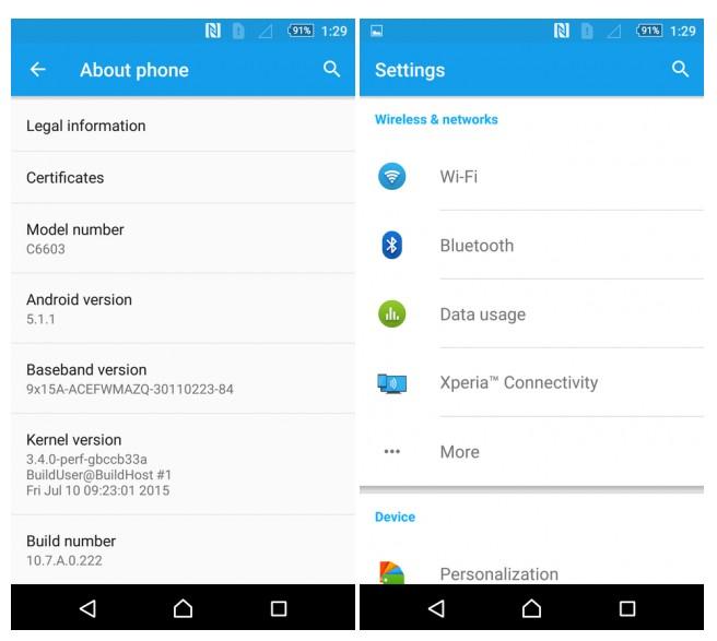 Seriile vechi Xperia Z au primit update-ul la Android 5.1.1 xperia lollipop