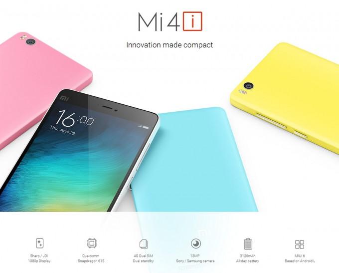 Xiaomi Mi4i - dual SIM octa-core cu ecran FullHD la 194$ xiaomi gearbest