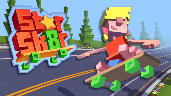 Star Skater - endless runner voxel art de la Halfbrick Studios endless voxel