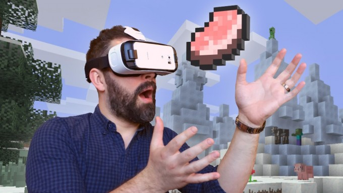 Minecraft: Gear VR Edition este disponibil pentru Galaxy S6, S7 și Note 5 minecraft oculus vr gearvr