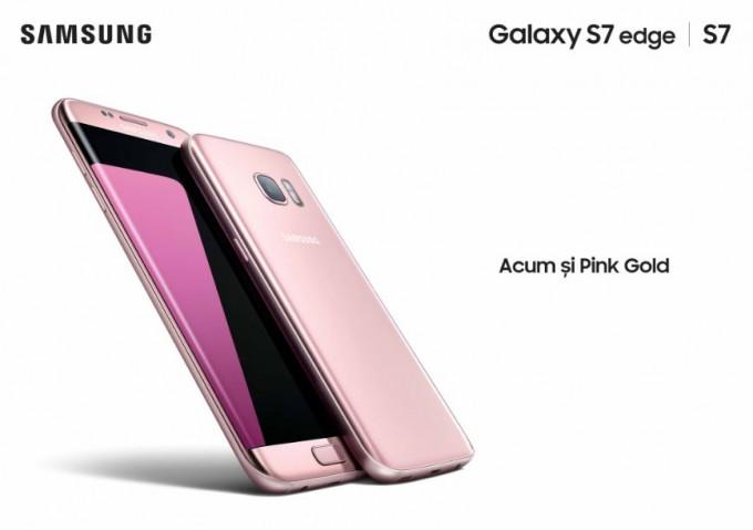 Samsung Galaxy S7/S7 Edge Pink Gold și Silver Titanium disponibile în România s7 edge samsung