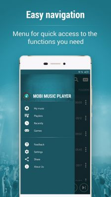Mobi Music Player - player audio gratuit și foarte intuitiv offline music player