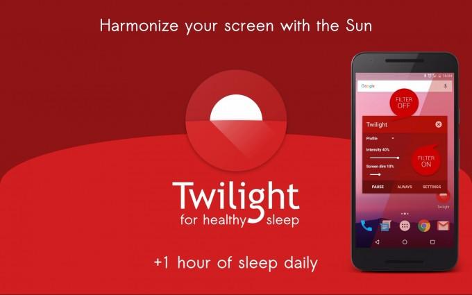 Twilight - aplicația căreia îi pasă de ochii și somnul tău [5+3 coduri promo gratuite] twilight coduri promo