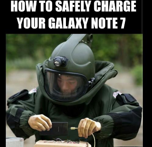 Samsung Galaxy Note 7 - ținta glumelor în ultimele saptămâni [Imagini] note 7