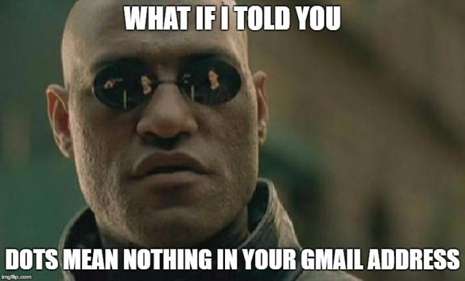 Voi știați că în adresele de Gmail punctele nu sunt luate în considerare? Eu nu. gmail