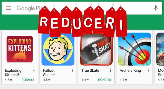 Reduceri la câteva aplicații și jocuri, pentru o perioadă limitată sales reduceri