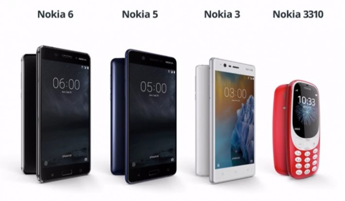 Nokia 5, 3 și 3310 prezentate la Mobile World Congress mwc17 nokia