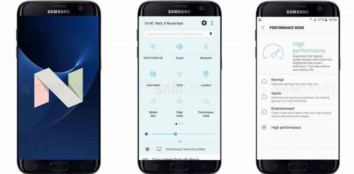 Samsung Galaxy S7 și S7 edge au primit un mic update pe Android 7.0 nougat s7 samsung