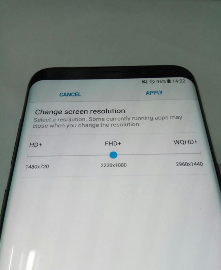 Poți schimba rezoluția ecranului pe Galaxy S8 - fix ca și pe Galaxy S7 rezoluție Galaxy S8