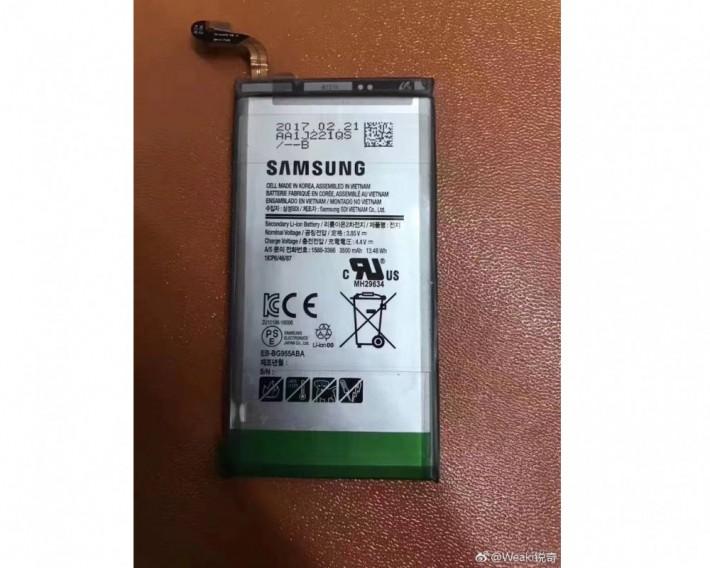 Prima imagine cu presupusa baterie de 3500 mAh a lui S8 Plus plus s8 samsung