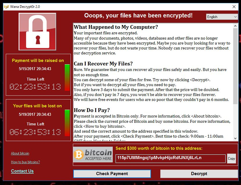 WannaCry - cel mai mare atac cibernetic din istorie ransomware WannaCry