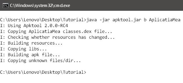 Cum să compilezi/decompilezi o aplicație .apk compiler apk