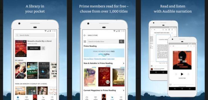 Aplicația Amazon Kindle a primit o interfață nouă kindle amazon
