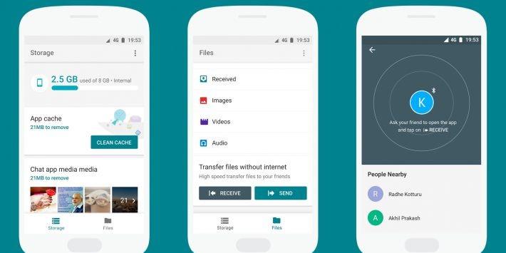 Files Go, managerul de fișiere de la Google, disponibil pentru download în Play Store google go files