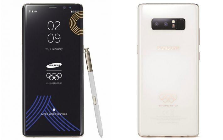 Samsung Galaxy Note 8 în ediție limitată PyeongChang 2018 dedicată Jocurilor Olimpice de iarnă note8 samsung