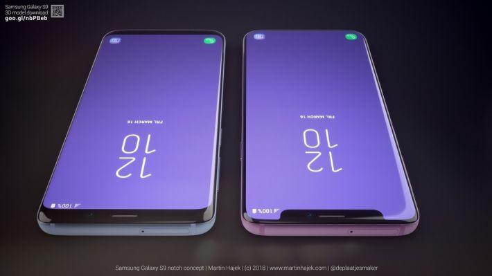 Oare cum ar fi arătat Samsung Galaxy S9 cu notch (breton)? s9 samsung galaxy