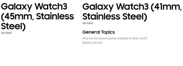 Galaxy Watch3 confirmat oficial în 2 versiuni de mărime și material watch samsung leak