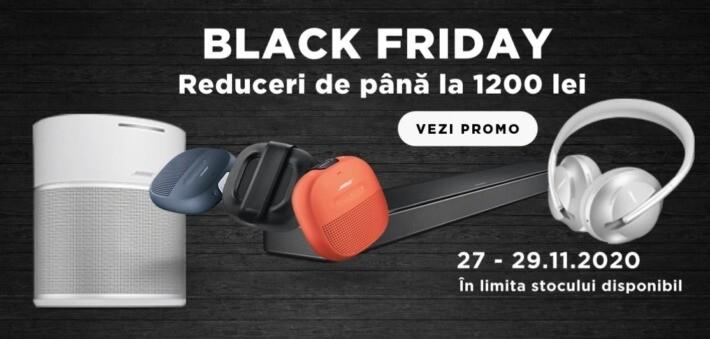 Reduceri de Black Friday pe site-ul Bose în România bose black friday