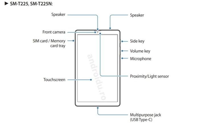 Samsung confirmă Galaxy Tab A7 Lite publicând manualul de utilizare tableta samsung leak